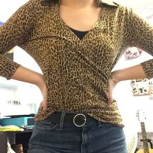 Cheetah print shirt!